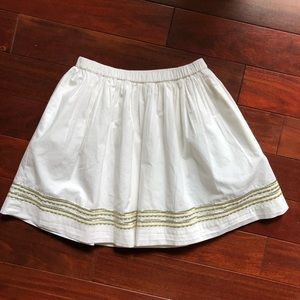 NWT J.Crew Girls Embroidered Skirt